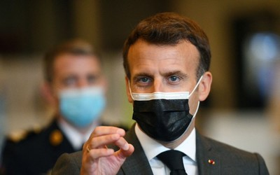 France's Macron: vaccine patents not the issue, it's getting jabs out