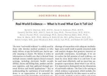 Real-World Evidence — What Is It and What Can It Tell Us?