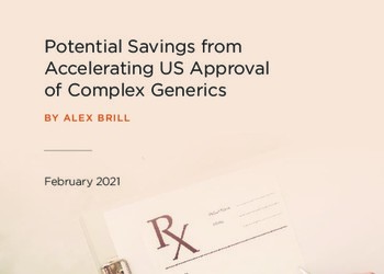 Potential Savings from Accelerating US Approval of Complex Generics