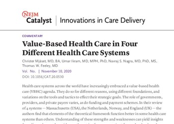 Value-Based Health Care – An International Comparison