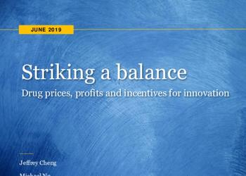 Striking a balance. Drug prices, profits and incentives for innovation