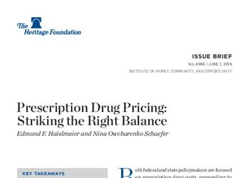 Prescription Drug Pricing: Striking the Right Balance
