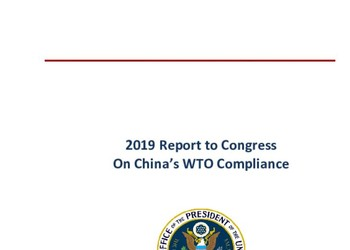 2019 Report to Congress On China's WTO Compliance