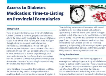 Time-to-Listing on Provincial Formularies