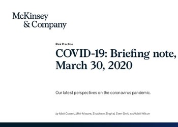 COVID-19: Briefing note, March 30, 2020