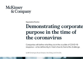 Demonstrating corporate purpose in the time of the coronavirus