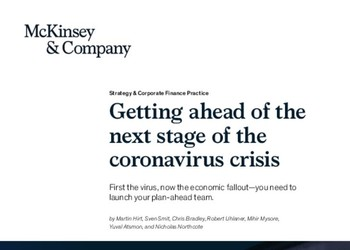 Getting ahead of the next stage of the coronavirus crisis