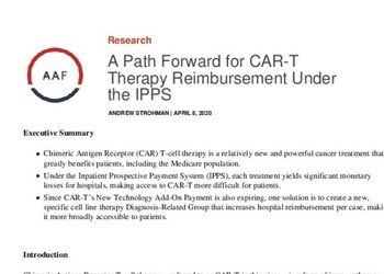 A Path Forward for CAR-T Therapy Reimbursement Under the IPPS