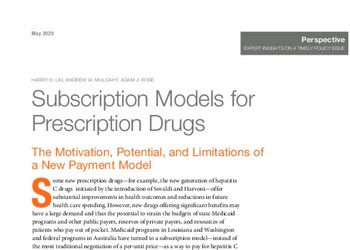 Subscription Models for Prescription Drugs