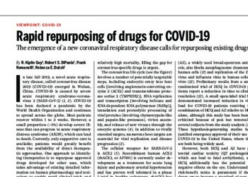 Rapid repurposing of drugs for COVID-19