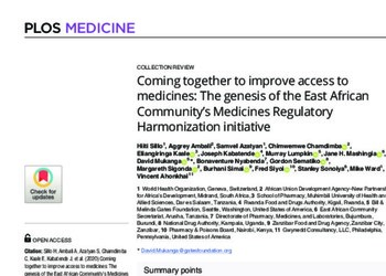 The genesis of the East African Community's Medicines Regulatory Harmonization initiative